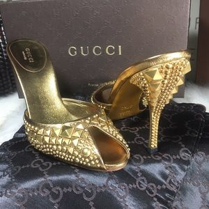 GUCCI x TOM FORD studded mules sz 37.5c